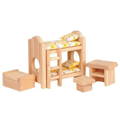 Plan Toys Children's Bedroom dollhouse furniture