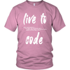 """Live to Code"" Science T-Shirt for teenagers and adults"