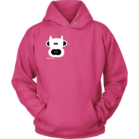 Teenage and Adult Hoodie: CowClaw design