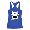 Cow Racerback Tank Top for teenagers and adults