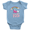 "Unicorn ""What Ever"" Baby Girl Onesie"