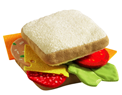 Haba Biofino Sandwich soft pretend play food