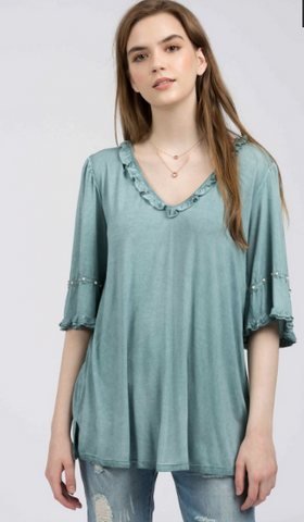 Blue Sage Tunic Top