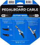 12 Foot Solderless Pedalboard Cable Kit BCK-12