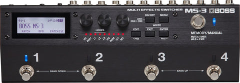 Multi Effects Switcher Pedal MS-3
