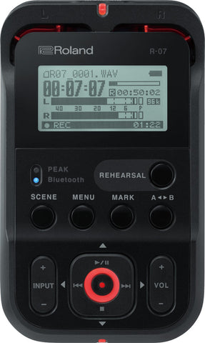 R-07 High-Resolution Audio Recorder in Black