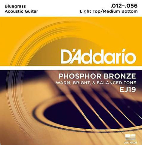 Acoustic EJ19 Phosphor Bronze Bluegrass Light Top/Medium Bottom 12-56