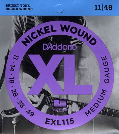 Electric EXL115 Nickel Wound Medium/Blues-Jazz Rock 11-49