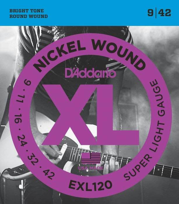 Electric EXL120 Nickel Wound Super Light 9-42