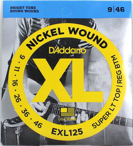 Electric EXL125 Nickel Wound Super Light Top/Regular Bottom 9-46