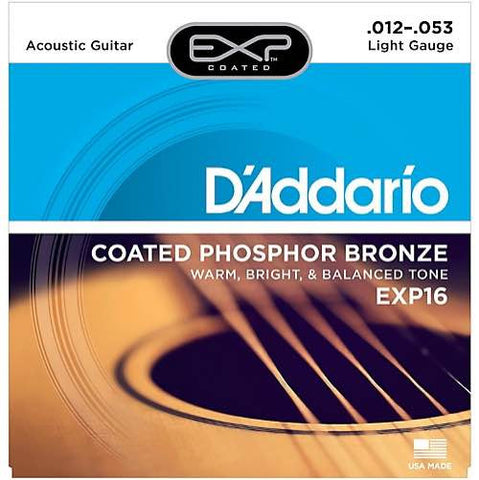 Acoustic EXP16 Coated Phosphor Bronze Light 12-53