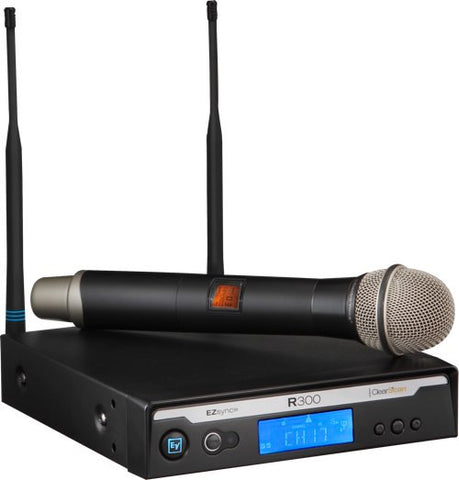 R300-HD B Band PL22 Handheld Wireless Microphone System