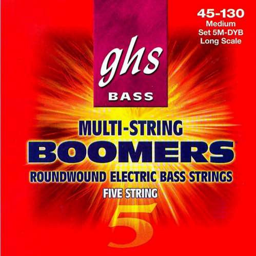 "Bass Boomers 5-String Medium 36.5"" Winding 45-130 Set 5M-DYB"