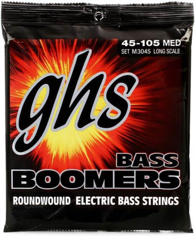 "Bass Boomers 4-String Medium 36.5"" Winding 45-105 Set M3045"