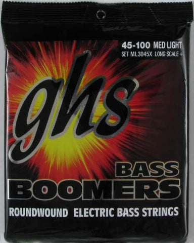 "Bass Boomers Extra Long Scale Medium Light 38"" Winding 45-100 Set ML3045X"