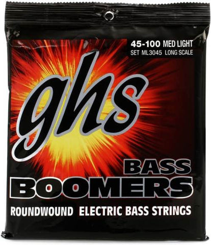 "Bass Boomers 4-String Medium Light 36.5"" Winding 45-100 Set ML3045"