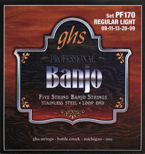 Banjo Stainless Steel 5-String Regular Light Set PF170