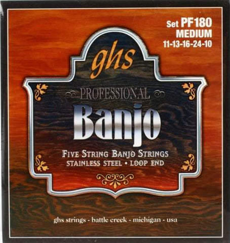 Banjo Stainless Steel 5-String Medium Set PF180
