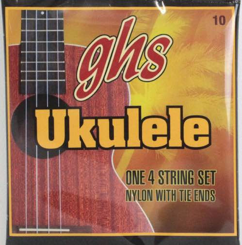 Ukulele Clear Nylon Hawaiian D-Tuning 4-String Set 10