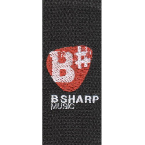 Basic Cotton Strap with B Sharp Logo in Black MC8-BLK