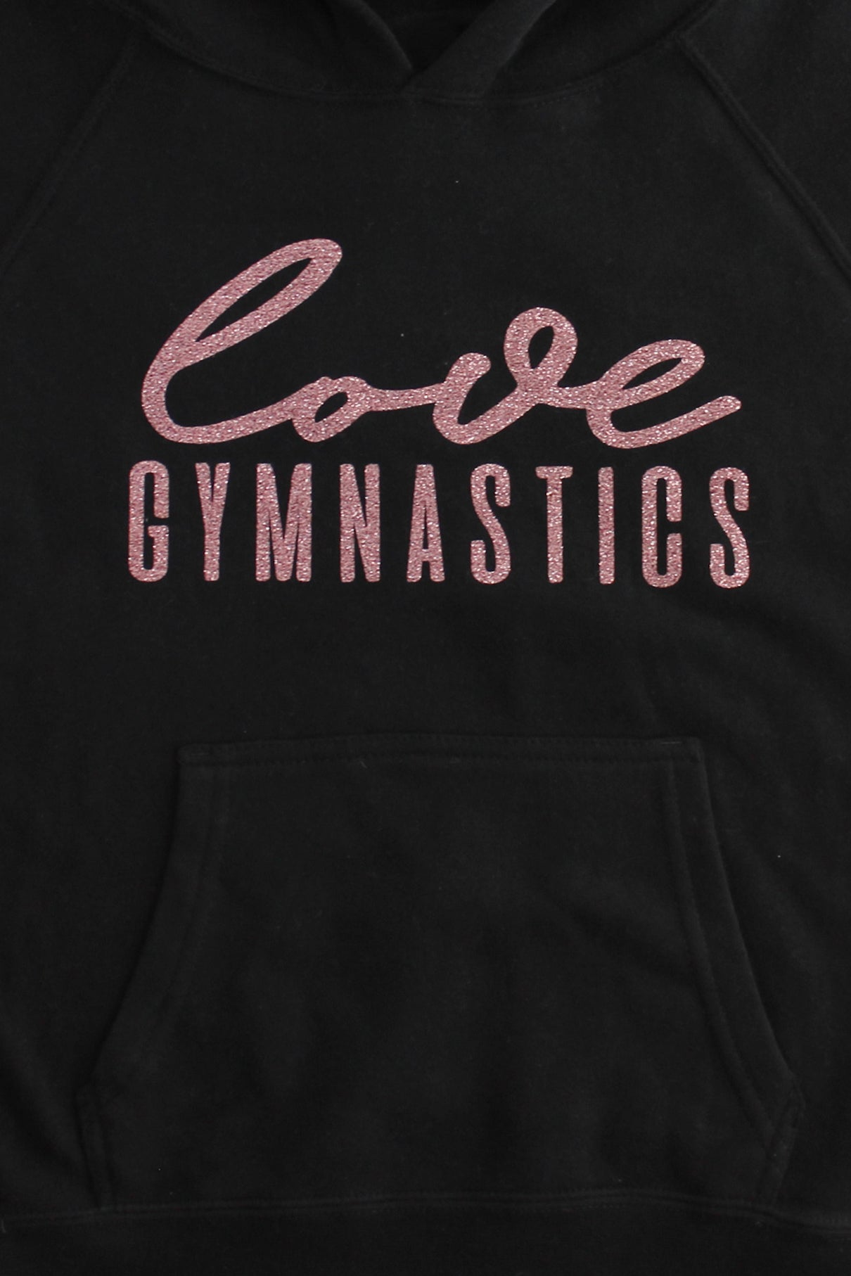 Black Love Gymnastics Hoodie Sweatshirt - Rose