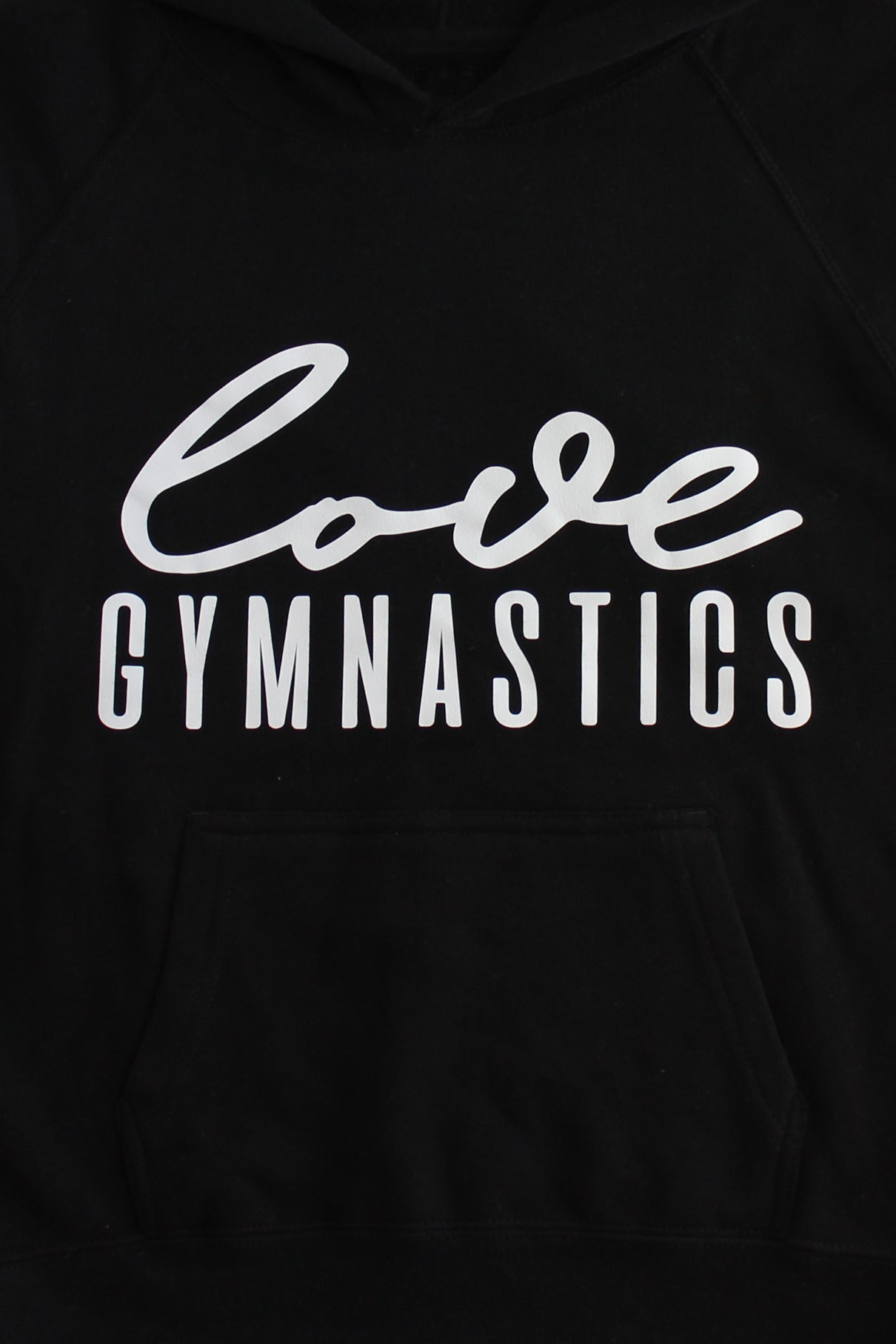 Black Love Gymnastics Hoodie Sweatshirt - White