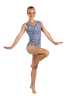Blue Butterfly Floral Tank Leotard