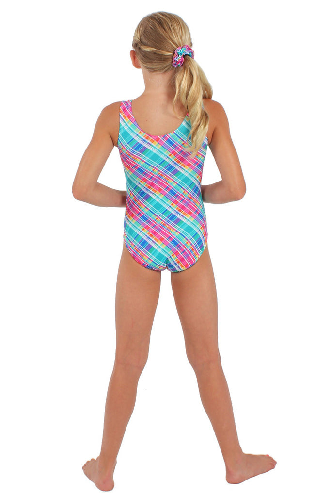 Candy Plaid Tank Leotard