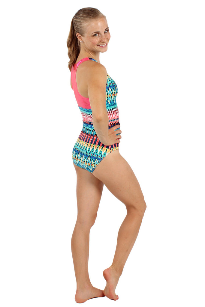 Gemstone Racerback Tank Leotard