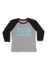 Gymnast Fierce And Fearless Baseball Tee - Aqua Glitter