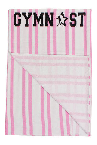 Gymnast Beach Towel - Pink and Black