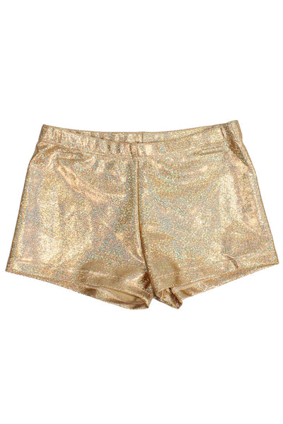 Hologram Mystique Shorts - Gold
