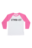 Gymnast Baseball Tee - Hot Pink and Black