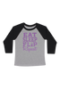 Eat Sleep Flip Repeat Baseball Tee - Black and Lavender