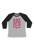 Eat Sleep Flip Repeat Baseball Tee - Black and Fuchsia