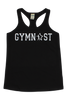 Black Gymnast Racerback Tank Top