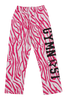 Gymnast Flannel Pants - Pink Zebra