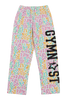 Gymnast Flannel Pants - Rainbow Cheetah