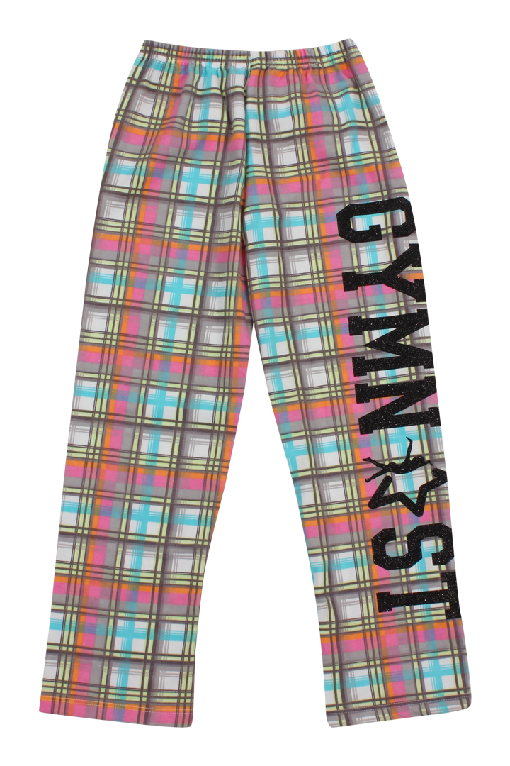 Gymnast Flannel Pants - Candy Plaid