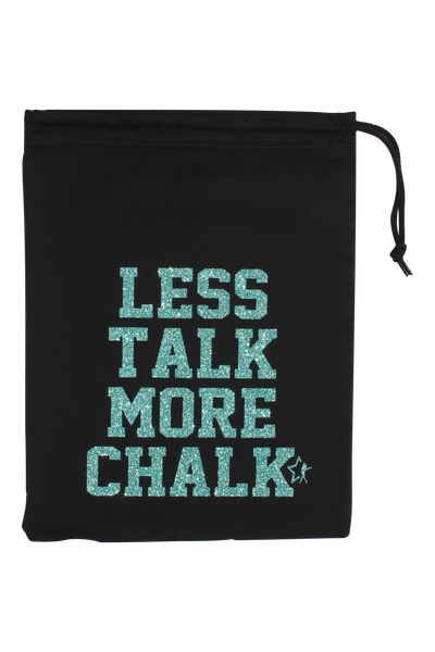 Less Talk More Chalk Grip Bag - Jade Glitter