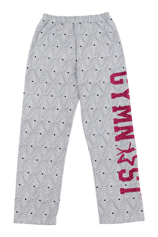 Gymnast Flannel Pants - Black Diamonds