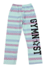 Gymnast Flannel Pants - Triangle Stripes