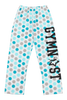 Gymnast Flannel Pants - Teal Dots