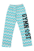 Gymnast Flannel Pants - Teal Chevron
