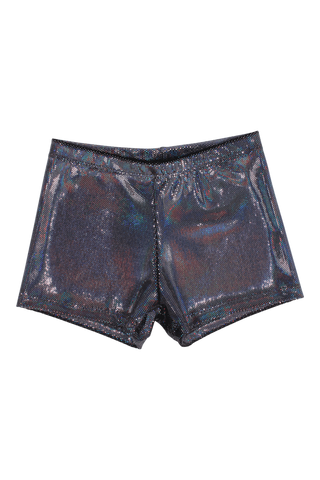 Prismatic Velvet Shorts - Black