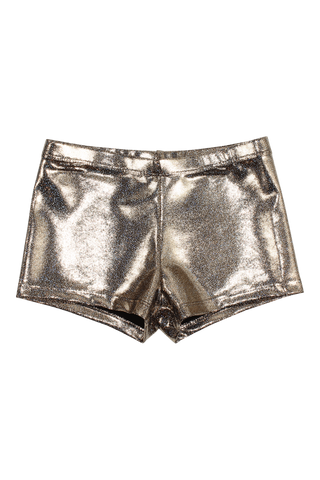 Hologram Mystique Shorts - Gold Glitz