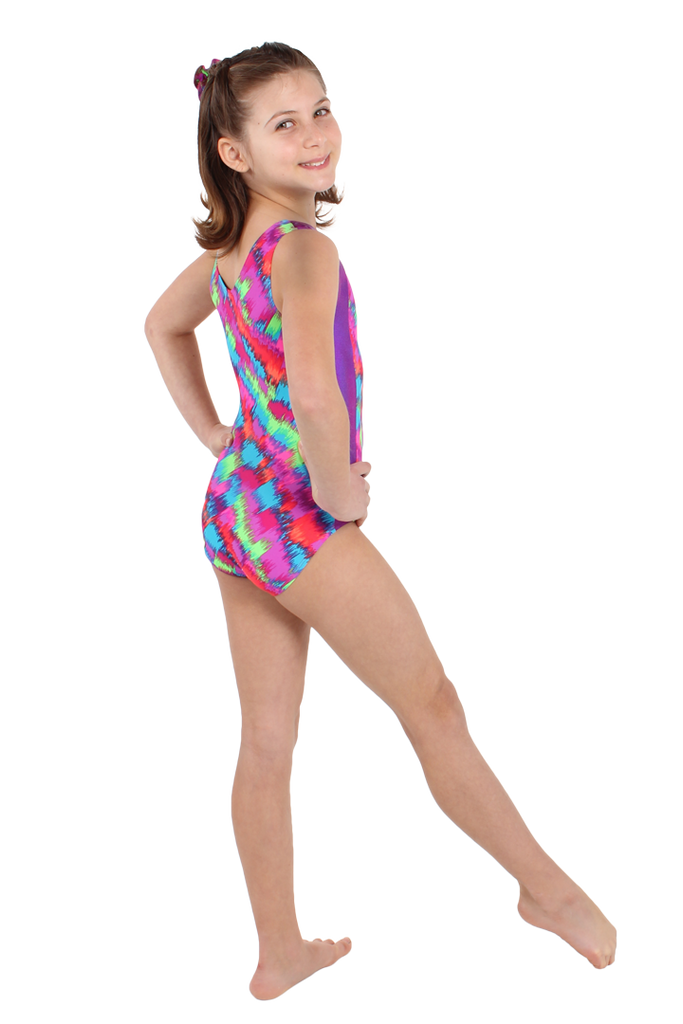 Neon Static Tank Leotard