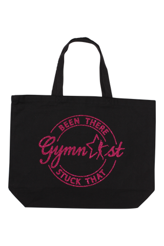 Been There Stuck That Gymnast Tote Bag - Fuchsia Glitter