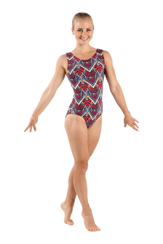 Navy Cross Stitch Tank Leotard