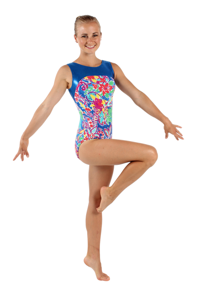 Fiesta Watercolor Tank Leotard